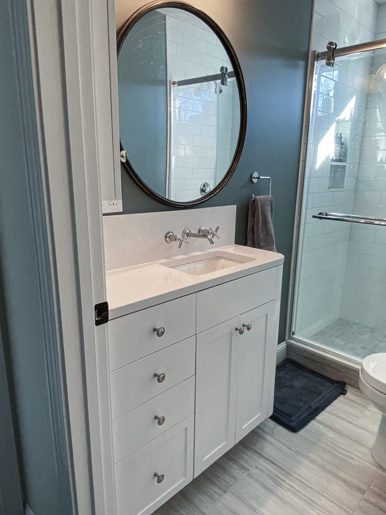 Customer designed bathroom vanity